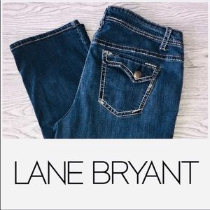 Lane Bryant | Genius Fit Crop Capri Jeans (Sz 18)